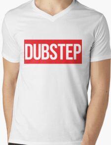 Dubstep (Red) Mens V-Neck T-Shirt
