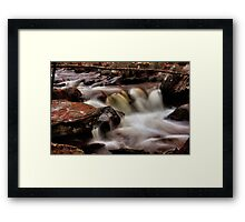 Whiting River Cascades Framed Print