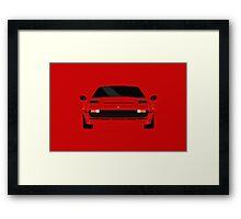 Italian supercar simplistic front end design 2 Framed Print