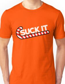 Suck it candy cane humor for Christmas Unisex T-Shirt