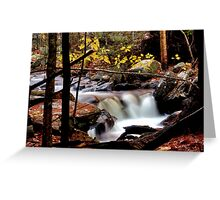 Whiting River Cascades Greeting Card