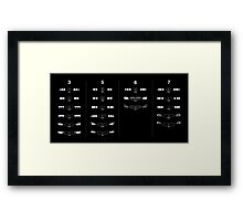 3, 5, 6, and 7 Generations Headlights and kidney grills Framed Print