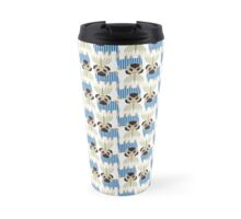 Hanukkah Pugs with Menorah Travel Mug
