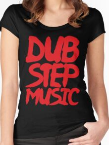 Dubstep Music Women's Fitted Scoop T-Shirt