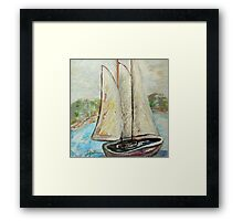 On a Cloudy Day - Impressionist View Framed Print