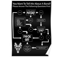 Band Interest Flowchart For The Metalhead - Posters/Prints Poster