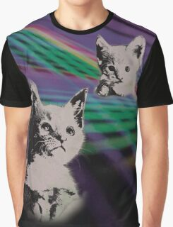Cat on We Have Lasers Graphic T-Shirt