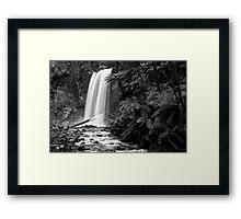 Hopetoun falls in Balck and White Framed Print
