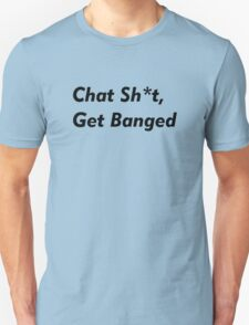 Leicester City - Jamie Vardy. Chat Shit, Get Banged. Funny Football T-Shirt