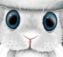 White Floppy Eared Baby Bunny Wearing a Santa Hat  Sticker
