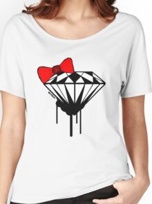 DIAMOND WITH A BOW TIE :D Women's Relaxed Fit T-Shirt