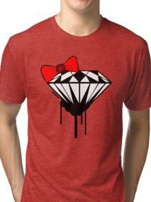 DIAMOND WITH A BOW TIE :D Tri-blend T-Shirt