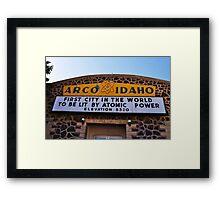 Arco, ID Framed Print