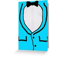 HALLOWEEN COSTUME TUX TUXEDO Greeting Card