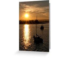 Sunset At Alloa Docks Greeting Card