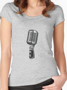 Shure 55 Classic Vintage Microphone  Women's Fitted Scoop T-Shirt