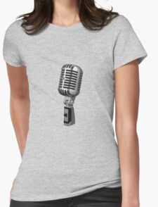Shure 55 Classic Vintage Microphone  Womens Fitted T-Shirt