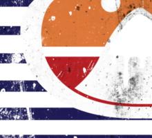 Quiksilver - RETRO logo grunge Sticker