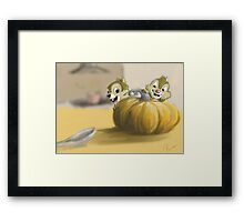 Autumn with Chip and Dale Framed Print