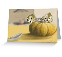 Autumn with Chip and Dale Greeting Card