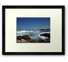 Rockpools and landscape Framed Print
