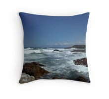 Rockpools and landscape Throw Pillow