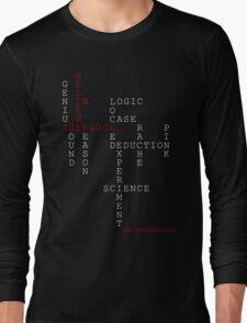 #BELIEVEINSHERLOCK WORD-PUZZLE Long Sleeve T-Shirt