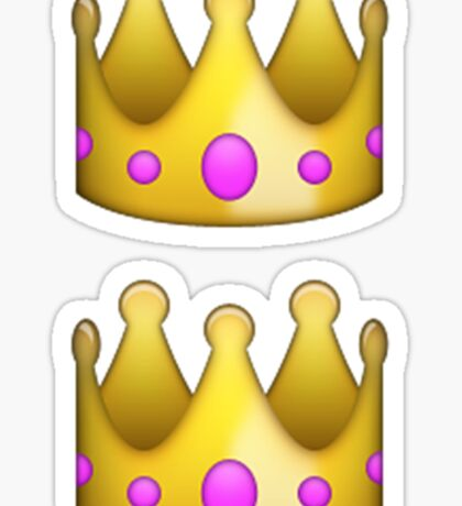 Emoji Crown Sticker