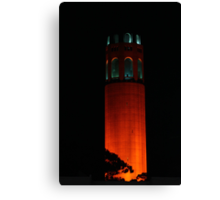 San Francisco Orange October Canvas Print