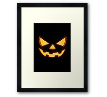 Scary Halloween Horror Pumpkin Face Framed Print