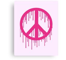 Pink Trendy modern Graffiti style Peace Canvas Print
