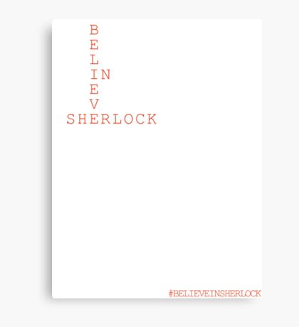 #BELIEVEINSHERLOCK WORD-PUZZLE Canvas Print
