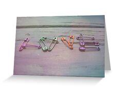 Love Pins Greeting Card