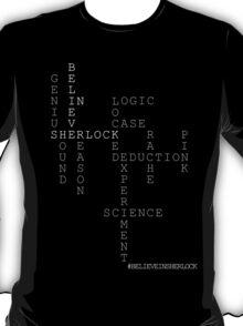 #BELIEVEINSHERLOCK WORD-PUZZLE v.3 T-Shirt