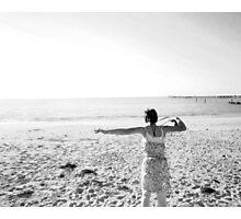 Jump to Sand Photographic Print