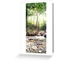 tree in the river Greeting Card