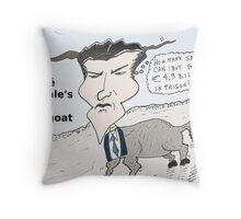 Business cartoon of Jerome Kerviel the scapegoat Throw Pillow