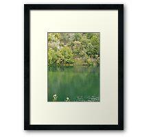 Green mountain lake Framed Print