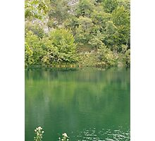 Green mountain lake Photographic Print