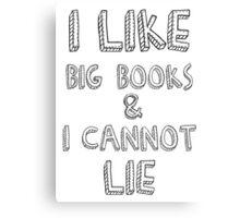 I like big books Canvas Print