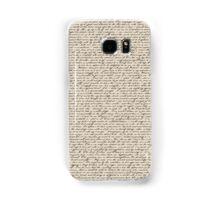 Literature in Print: Sherlock Holmes Samsung Galaxy Case/Skin
