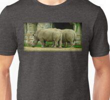 Pair Of Rhinoceroses Unisex T-Shirt