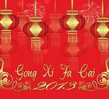 Gong Xi Fa Cai - Chinese New Year, Year Of The Snake 2013 by Moonlake