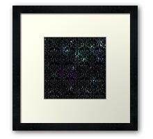 Damask Galaxy - Mermaid Framed Print