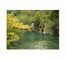 Beauty of Plitvice lake Art Print