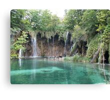 Green Plitvice lake  Canvas Print