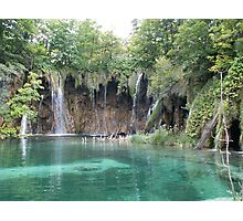 Green Plitvice lake  Photographic Print