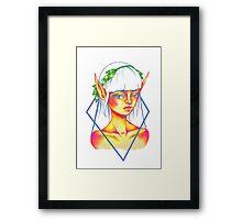 sunset elf Framed Print