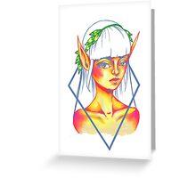 sunset elf Greeting Card