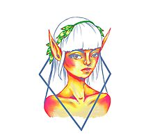 sunset elf Photographic Print